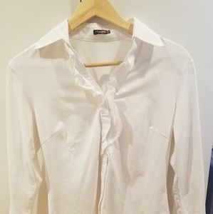 J McLaughlin White Catalina Cloth Blouse